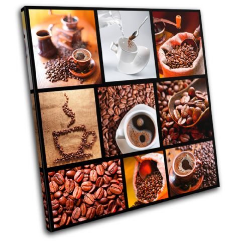 Coffee Collage Brown Food Kitchen - 13-0170(00B)-SG11-LO
